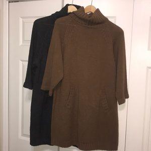 Lot of Zara Knit Oversized Turtleneck Sweaters